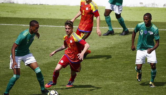 Un instant del duel entre Andorra i Cap Verd que es va jugar fa dos anys.