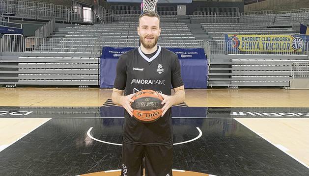 David Jelínek al Poliesportiu d'Andorra.