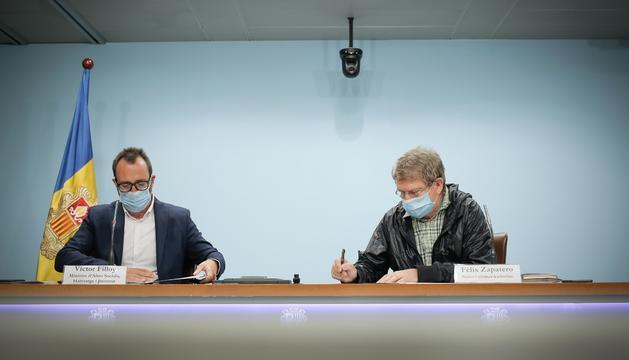 Víctor Filloy i Félix Zapatero han signat un conveni d'ajut a la gent gran
