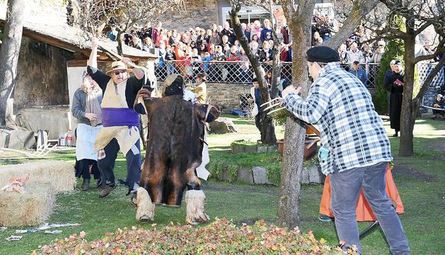 Festa del Ball de l'Óssa a Ordino en edicions anteriors.