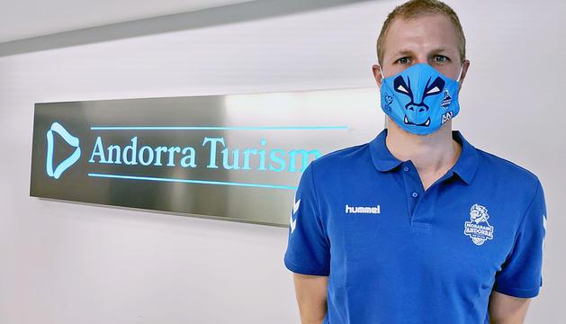 Haukur Palsson, ahir a la seu d'Andorra Turisme.