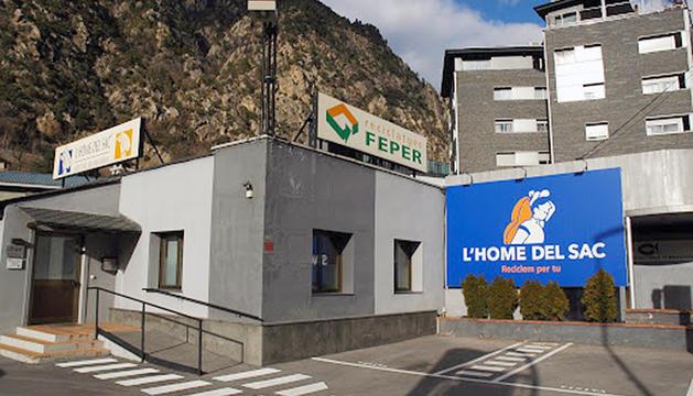 L'empresa Feper, que ha sol·licitat la nova planta de tractament.