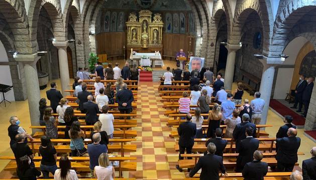 El funeral per la víctima a l'església de Sant Pere Màrtir