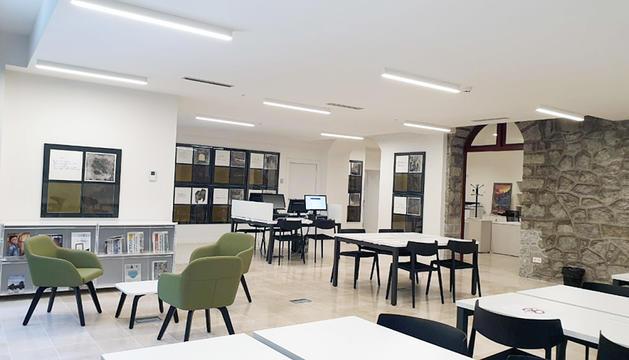 La sala principal de la Biblioteca Nacional.