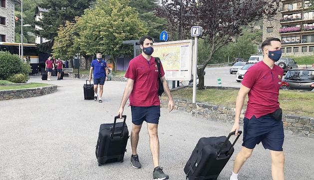 L'expedició de la secció de bàsquet de l'FCBarcelona va arribar ahir al vespre a Encamp.