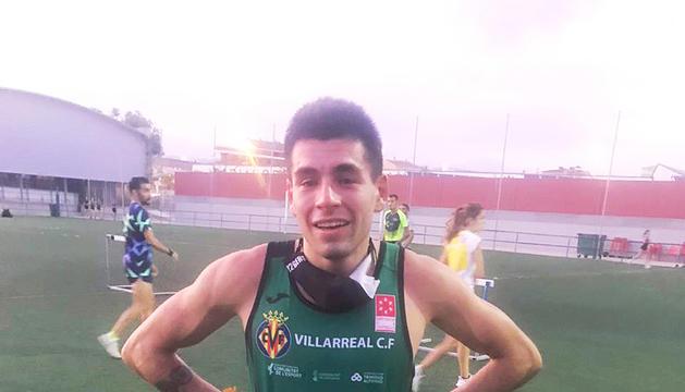 Nahuel Carabaña, feliç després de la seva prova.