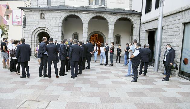 Un moment del funeral celebrat ahir la tarda a Escaldes-Engordany.