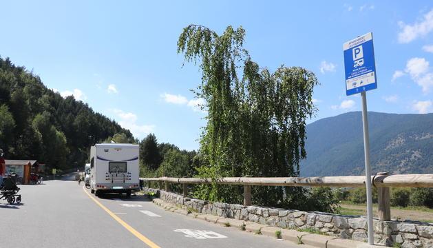 Una de les zones habilitades per autocaravanes