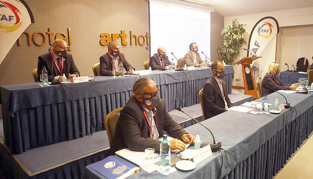 L'assemblea de la Federació Andorrana de Futbol va viure una nit relativament còmoda.