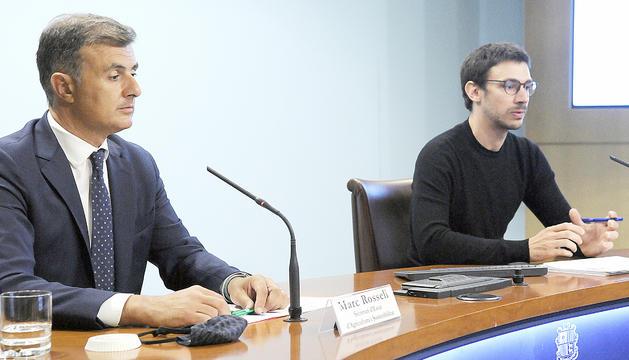 Marc Rossell i Albert Gomà durant la compareixença.