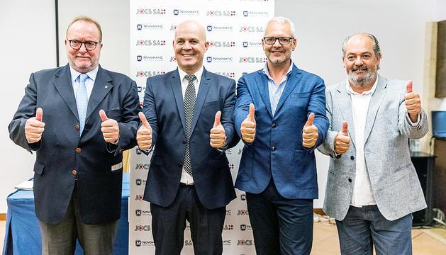 Els integrants de la proposta de Jocs SA que va guanyar el concurs del casino.