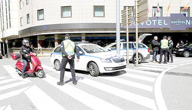 Un control de la policia a Andorra la Vella.