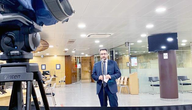 El ministre Jover va actualitzar ahir les dades de contagis.