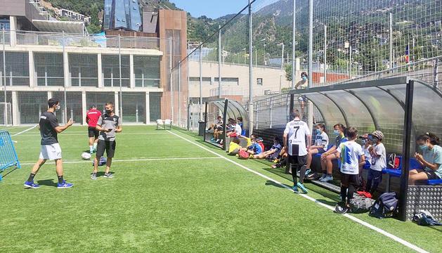 Infants participant en l'edició d'enguany dels esports d'estiu d'Escaldes-Engordany.