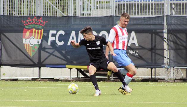 Iker Goujón, ahir durant el partit contra el Martorell.
