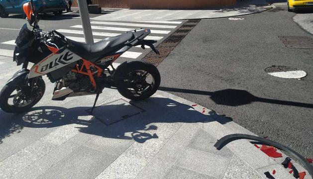 La moto accidentada a la Massana.