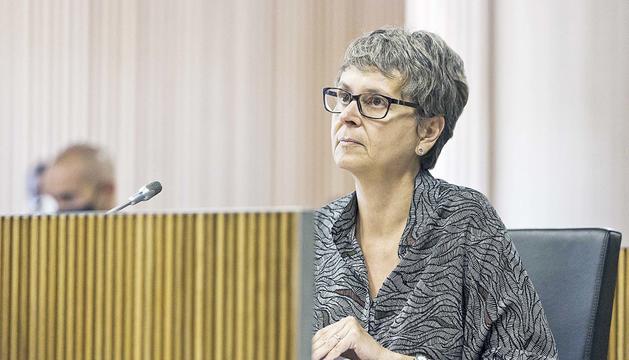 La consellera general del PS, Susanna Vela, al Consell General.
