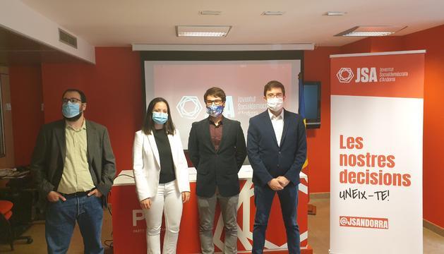 Els representants de la Joventut socialdemòcrata d'Andorra