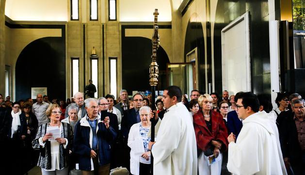 Un moment de la missa del Dia de Meritxell de l'any passat.