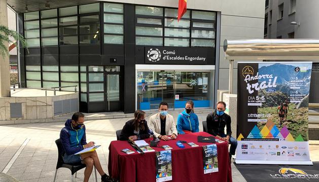 Presentació de la cursa a Escaldes-Engordany.