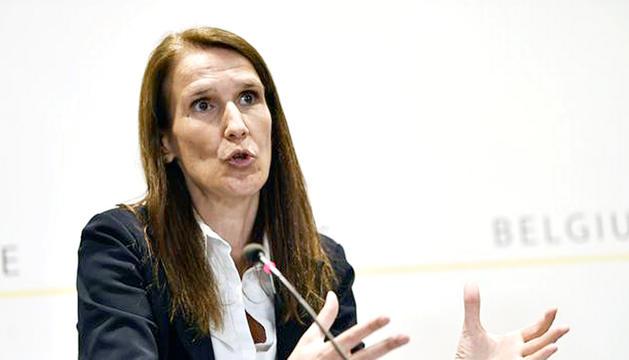 La primera ministra belga, Sophie Wilmès.