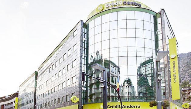 L'edifici de Crèdit Andorrà.