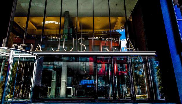 L'entrada a la nova seu de la Justícia.