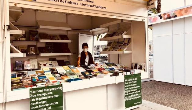 Estand d'Andorra a la Setmana del llibre en català