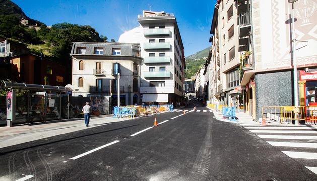 Part alta d'Escaldes després de les obres de renovació