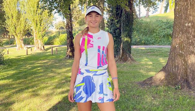 Vicky Jiménez va perdre ahir als quarts de final de dobles.