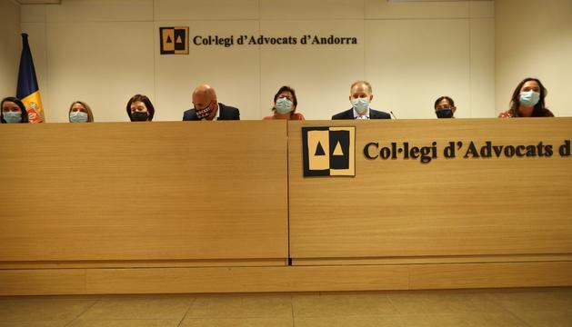 La junta del Col·legi d'Advocats