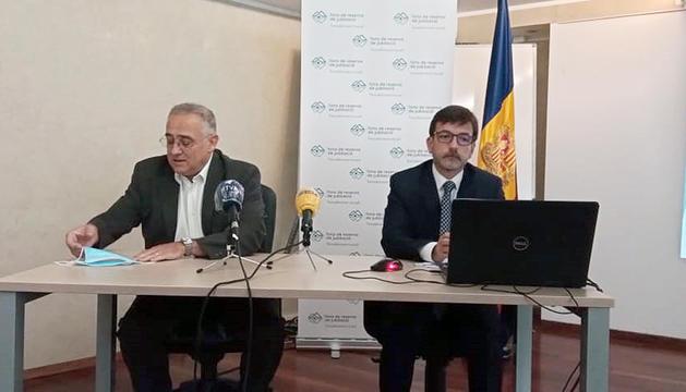 Albert Font i Jordi Cinca van fer balanç de la situació del fons de reserva de jubilació.