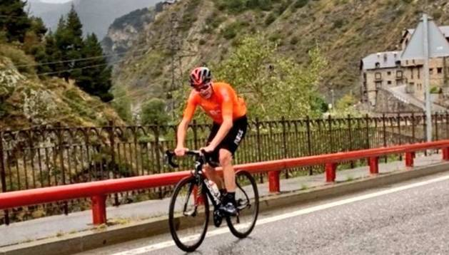 Froome, a les carreteres d'Andorra.