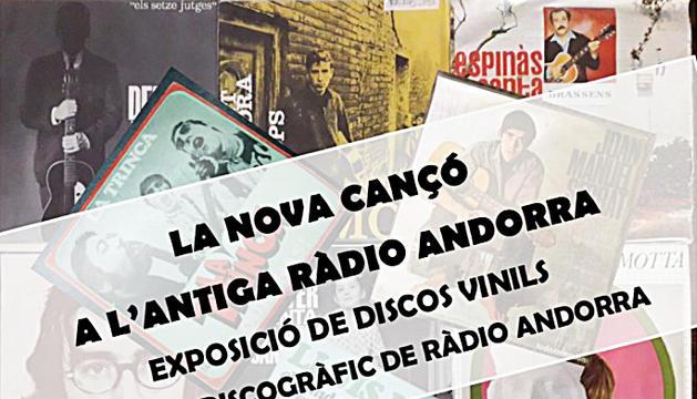 La nova cançó a través dels discos de la col·lecció de l'antiga Ràdio Andorra