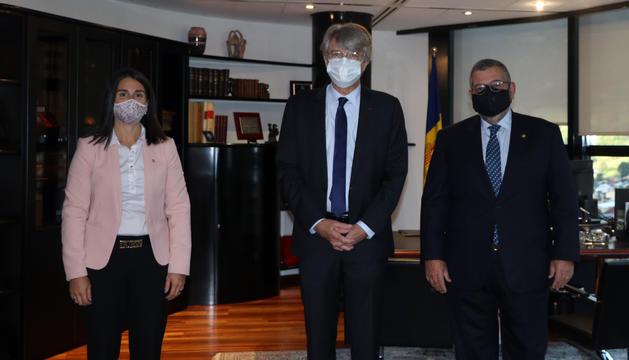 El diplomàtic gal Jean-Claude Tribolet ha visitat el comú d'Encamp