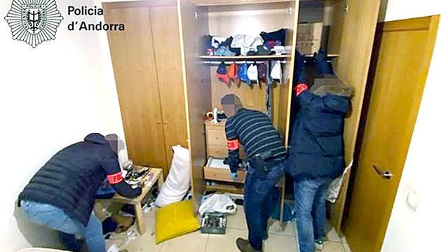 L'operació al pis de Ciutat de Valls, el gener de l'any passat.