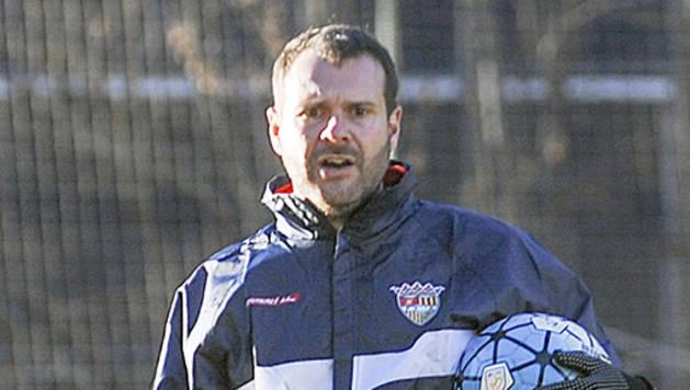 L'entrenador de l'FC Santa Coloma, Albert Jorquera, en la seva etapa a l'FC Andorra.
