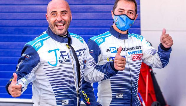 Jaume Font i Joan Vinyes, ahir a Monza.