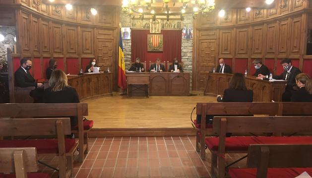 La sessió del consell de comú