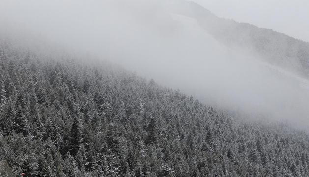 Unes vistes de Soldeu, després de la nevada de divendres passat.