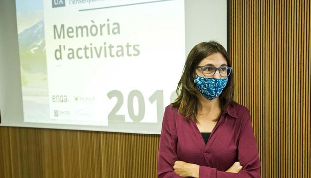 La directora de l'AQUA, Marta Fonolleda, ahir.