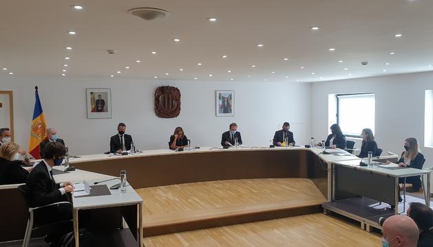 Un instant de la sessió del consell de comú d'Andorra la Vella d'aquesta tarda.