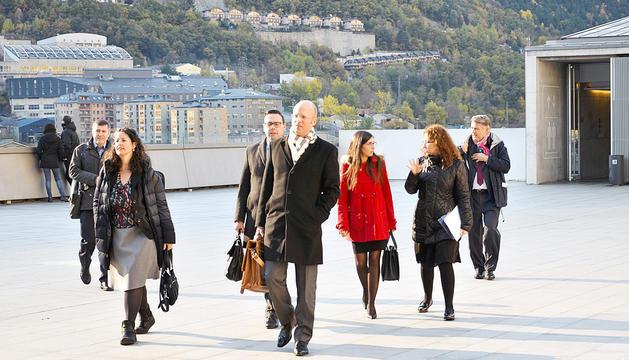 Els membres del GRECO en una visita al Principat el novembre del 2016.