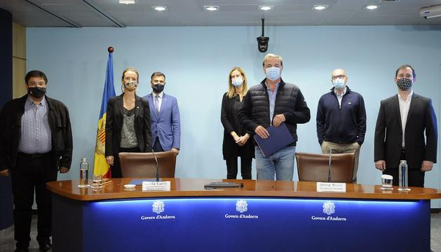 Signatura del conveni de Medi Ambient amb l'Acoda aquest matí