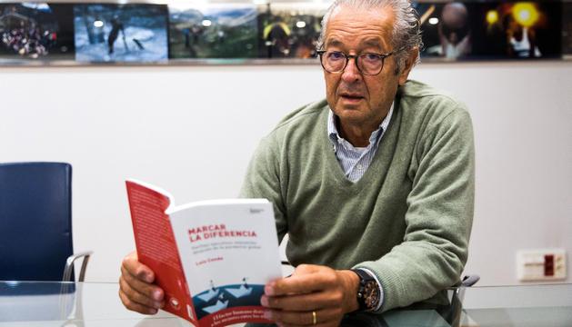 El 'headhunter' espanyol conegut internacionalment Luis Conde, durant l'entrevista al Diari.