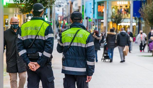 Agents de circulació, a Escaldes-Engordany.