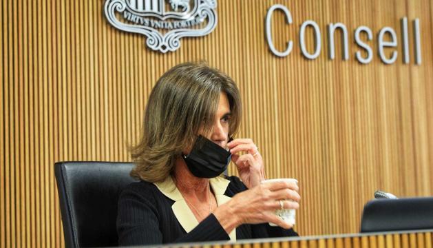 La ministra d'Educació, Ester Vilarrubla, en la compareixença al Consell.
