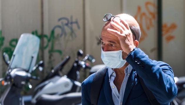 Jordi Pujol Ferrusola durant la primera vista del cas, que va ser suspesa.