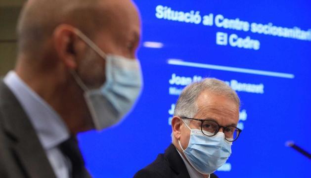 El ministre Joan Martínez Benazet i el director general del SAAS, Josep Maria Piqué