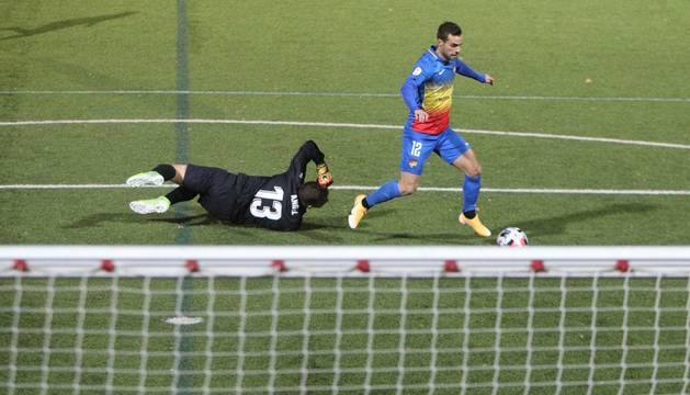 Hector Hevel marca el primer gol de l'FC Andorra en el debut a casa